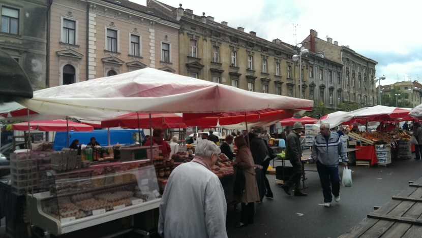Zagreb Saturday market
